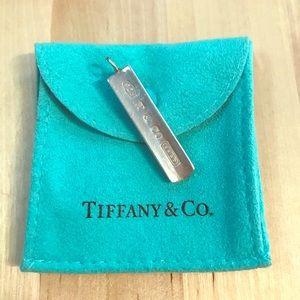 Tiffany Sterling silver T & CO 1987 bar pendant